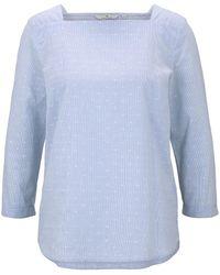 Tom Tailor Gestreifte Bluse mit U-Boot-Ausschnitt - Blau