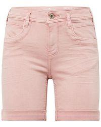 Tom Tailor Alexa Slim Jeans in Capri-Länge - Pink