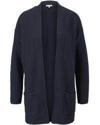 Tom Tailor Strukturierter Cardigan aus Baumwolle - Blau