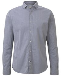 Tom Tailor Strukturiertes Hemd - Blau