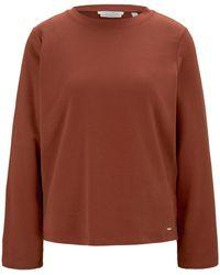 Tom Tailor DENIM Sweatshirt mit Seitenschlitzen - Rot