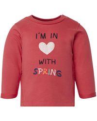 Tom Tailor Baby Sweatshirt mit Pom-Poms - Rot