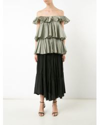 TOME - Sleeveless 3-tier Ruffle Blouse - Lyst