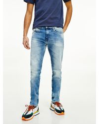 Tommy Hilfiger Slim Fit Tapered Jeans Met Fading - Blauw