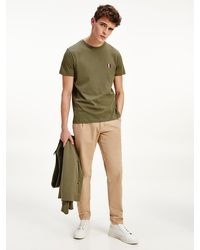 Tommy Hilfiger Essential Panelled Pure Cotton T-shirt - Green