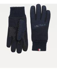 Tommy Hilfiger Touchscreenhandschoenen Van Stretchkatoenmix - Blauw
