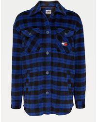 Tommy Hilfiger Overhemd Van Flanel Met Ginghamruit - Blauw