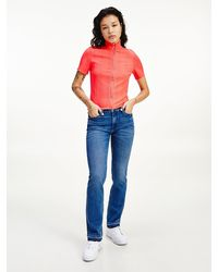 Tommy Hilfiger Maddie Mid Rise Bootcut Jeans - Blue