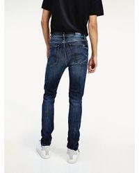 Tommy Hilfiger Simon Skinny Fit Jeans Met Stretch - Blauw