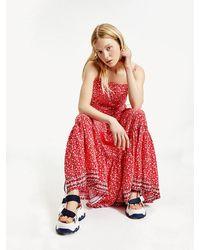 Tommy Hilfiger Floral Maxi Dress - Red
