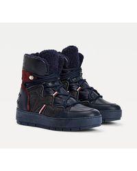 Tommy Hilfiger Metallic Finish Snow Boots - Blue