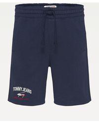 Tommy Hilfiger Short Met Logo - Blauw