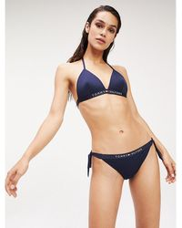 Tommy Hilfiger Triangel-Bikini-Top - Blau