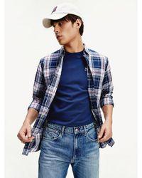 Tommy Hilfiger Essential Overhemd Met All-over Tartanruit - Blauw