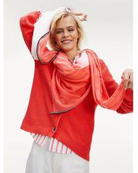 Tommy Hilfiger Chic Sjaal Met Ombre Design - Oranje