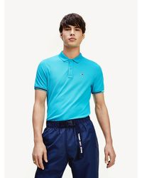 Tommy Hilfiger - Woven Logo Slim Fit Polo - Lyst
