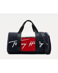 Tommy Hilfiger Signature Colour-blocked Duffle - Blue