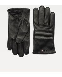 Tommy Hilfiger Mercedes-benz Leren Touchscreenhandschoenen - Zwart