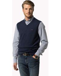 Tommy Hilfiger Cotton Cashmere Vest - Blue