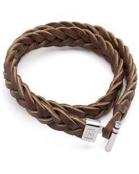 Tommy Hilfiger | Woven Leather Bracelet | Lyst