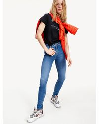 Tommy Hilfiger Harlem Th Flex High Rise Skinny Jeans - Blauw