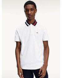 Tommy Hilfiger Tipped Collar Regular Fit Polo - White