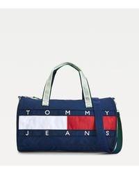 Tommy Hilfiger Reistas Met Neon Details En Vlag - Blauw