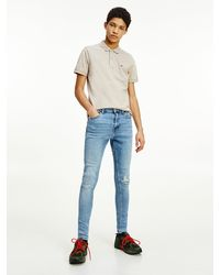 Tommy Hilfiger Finley Superskinny Ripped Jeans - Blauw