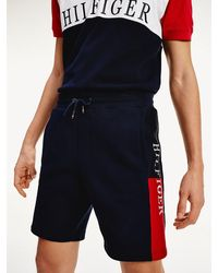 Tommy Hilfiger - Intarsia Logo Cotton Terry Shorts - Lyst