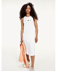 Tommy Hilfiger - Sleeveless Logo Tank Dress - Lyst