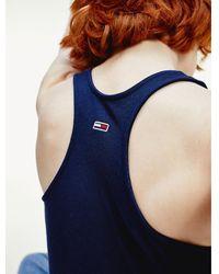 Tommy Hilfiger Logo Fitted Bodysuit - Blue
