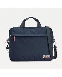Tommy Hilfiger Campus Laptoptas - Blauw