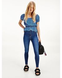 Tommy Hilfiger Sylvia Ultra High Rise Superskinny Jeans - Blauw
