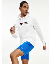 Tommy Hilfiger Sport Th Cool Flex Short Van Fleece - Blauw