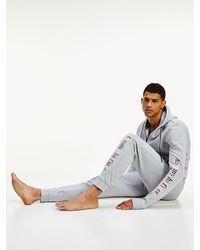 Tommy Hilfiger Logo-Jogginghose aus Bio-Baumwollmix - Grau