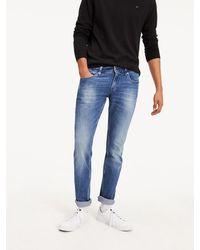 Tommy Hilfiger Scanton Low Rise Slim Fit Jeans Met Faded Look - Blauw