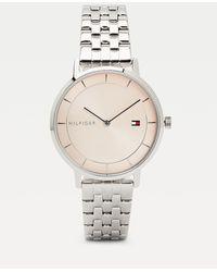 Tommy Hilfiger Zilverkleurig Horloge Met Ronde Wijzerplaat - Metallic