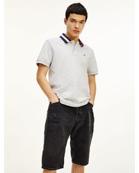 Tommy Hilfiger Tipped Collar Regular Fit Polo - Grey