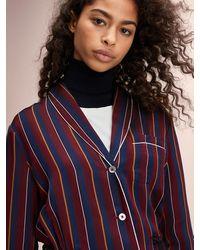 Tommy Hilfiger Tie Waist Pyjama Stripe Shirt - Red