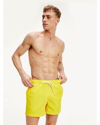 Tommy Hilfiger Slim Fit Zwemshort Met Contrasterend Koord - Meerkleurig