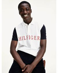 Tommy Hilfiger Colour-blocked Regular Fit Polo - Wit
