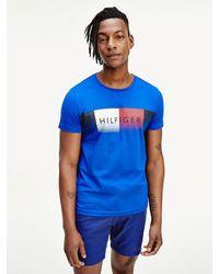Tommy Hilfiger Th Cool Regular Fit T-shirt Met Logo - Blauw