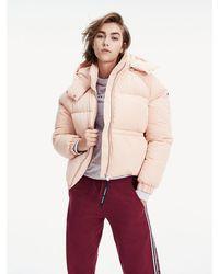 Tommy Hilfiger Puffer-Jacke mit Kapuze - Pink