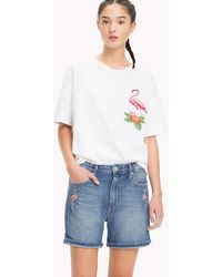 Tommy Hilfiger - Flamingo Embroidery T-shirt - Lyst