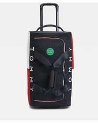 Tommy Hilfiger Colour-blocked Wheeled Duffle Bag - Blue