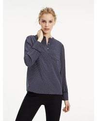 Tommy Hilfiger - Essential Popover Relaxed Fit Blouse - Lyst