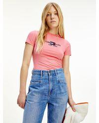 Tommy Hilfiger Body mit Logo - Pink