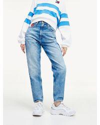 Tommy Hilfiger High Rise Mom Jeans Van Gerecycled Denim - Blauw