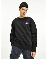 Tommy Hilfiger Tommy Badge Relaxed Fit Sweatshirt - Zwart