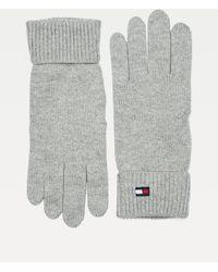 Tommy Hilfiger Essential Handschoenen Van Katoen En Kasjmier - Grijs